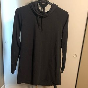 Dark gray athletic tunic